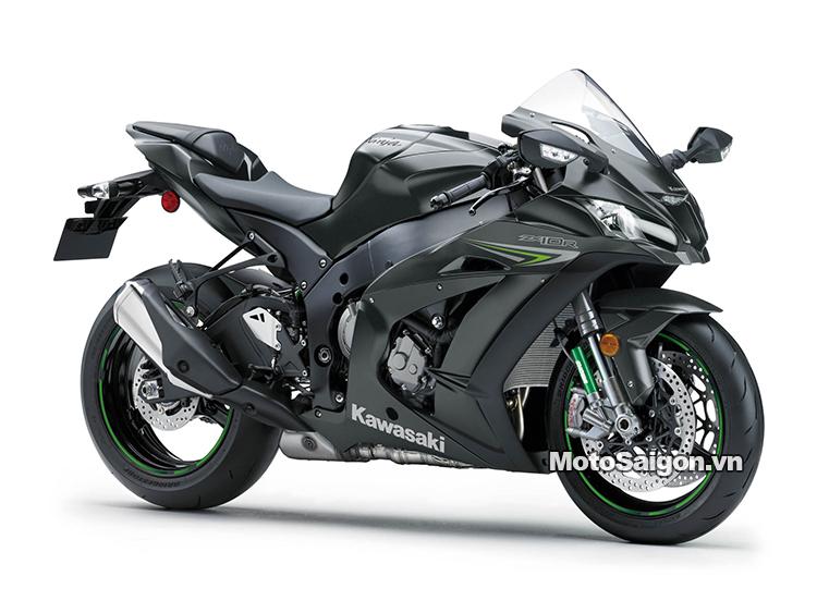 Xe mô tô Kawasaki Ninja ZX-10R 2021 2021 ra mắt màu trắng xám titanium 7