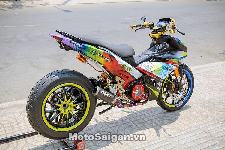 Exciter 150 độ gắp đơn của Ducati 1198 và ghi đông trần