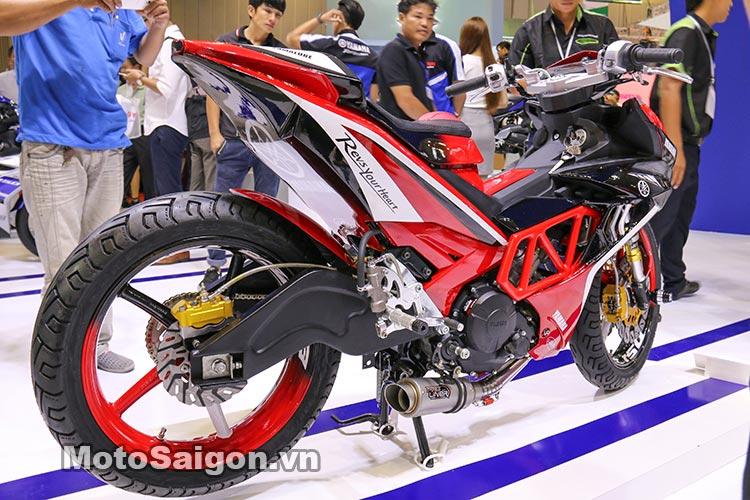 Exciter 150 màu đỏ độ cực độ do Yamaha VIệt Nam trưng bày