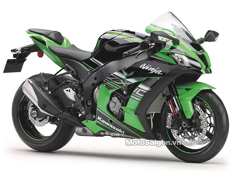 Xe mô tô Kawasaki Ninja ZX-10R 2021 2021 ra mắt màu trắng xám titanium 6
