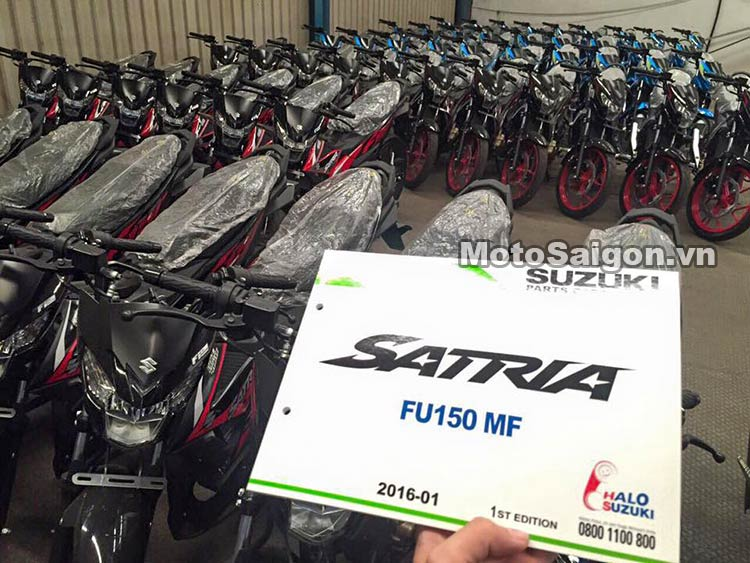 Suzuki Satria 150 2016 về Việt Nam với 2 phiên bản tùy chọn