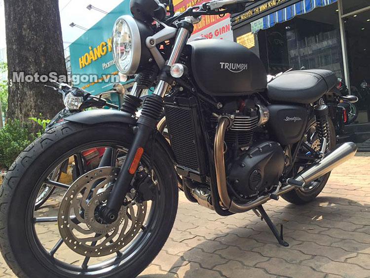Cận cảnh xe Triumph Street Twin ABS 2016 tại Việt Nam 9