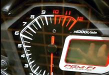 Đồng hồ Winner 150 sau khi khởi động