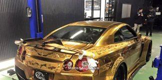 gold godzilla nissan R35 GTR mạ vàng