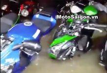 Dàn Moto PKL bị ngập trong nước