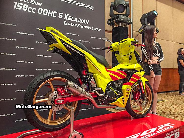 Honda Winner 150 độ Racing Boy với sơn vàng nổi bật 6