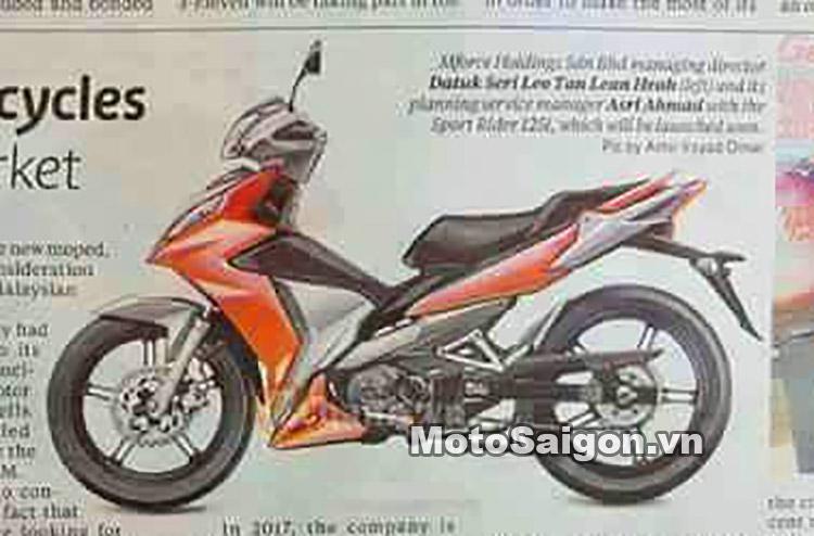 Hình ảnh SYM Super Moped 175i , mẫu xe tay côn Underbone mới của SYM xuất hiện trên báo Malaysia