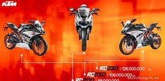 Ưu đãi giá bán KTM RC 200 250 390 mới nhất