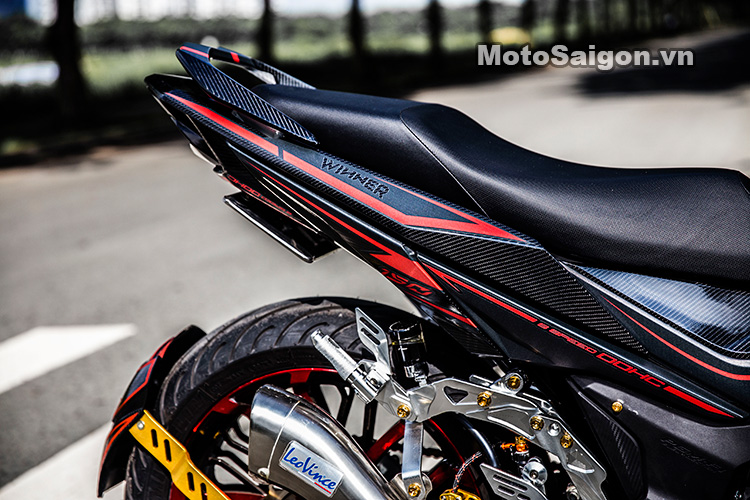 Dàn đuôi với mâm kuni, pô leovince cho Honda Winner 150