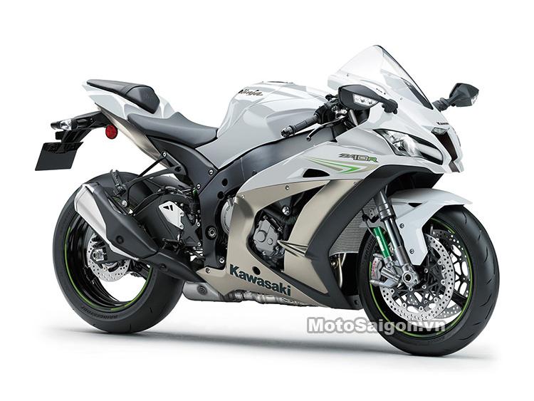 Xe mô tô Kawasaki Ninja ZX-10R 2017 ra mắt màu trắng xám titanium 5