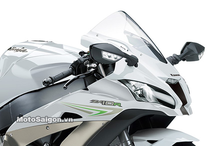 Xe mô tô Kawasaki Ninja ZX-10R 2017 ra mắt màu trắng xám titanium 2