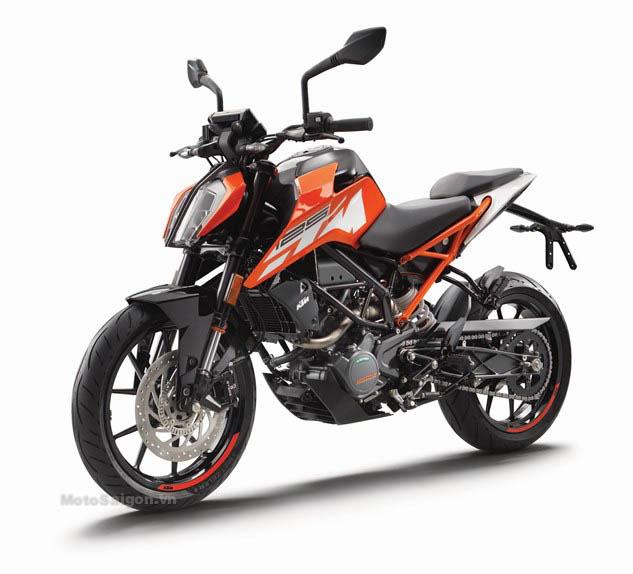 cận cảnh ktm duke 125 - 200 - 250 phiên bản 2017 mới - motosaigon