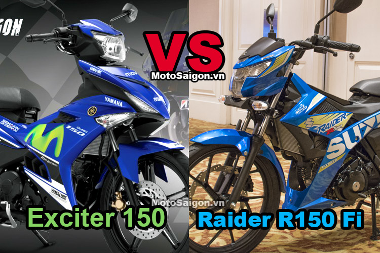 So sánh Raider R150 Fi 2017 vs Exciter 150