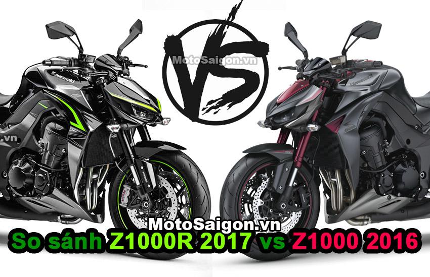 Z1000R 2017 có gì mới và khác biệt so với Z1000 2016? motosaigon