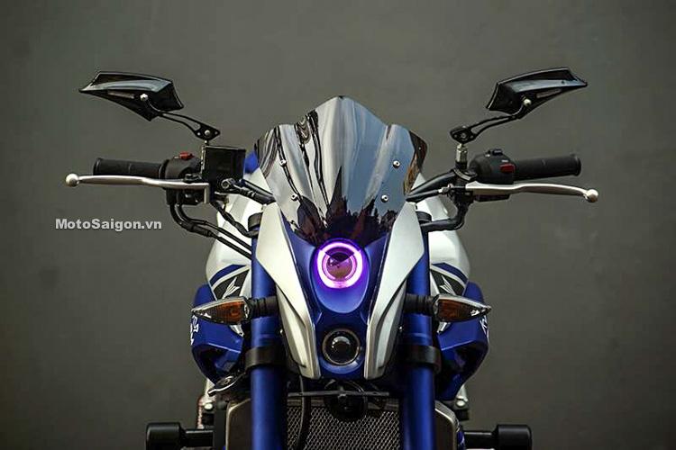 Ngắm Yamaha MT-03 độ đầu đèn & bánh lớn cực chất của biker nước ngoài-1