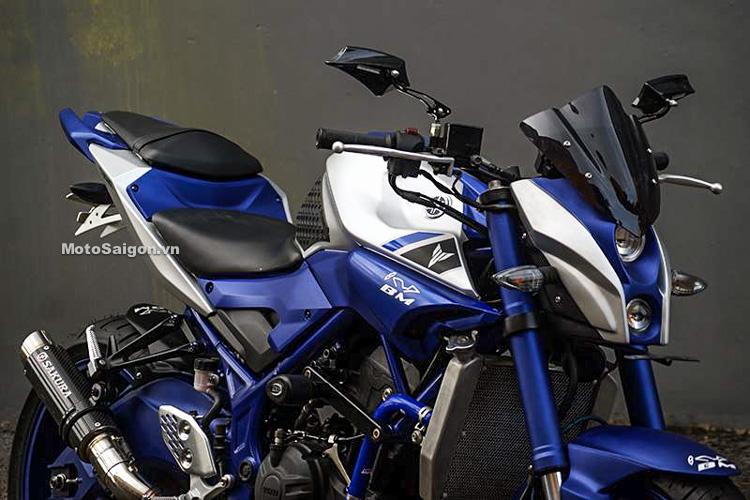 Ngắm Yamaha MT-03 độ đầu đèn & bánh lớn cực chất của biker nước ngoài 16