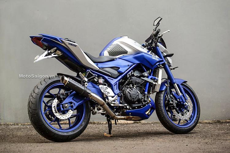Ngắm Yamaha MT-03 độ đầu đèn & bánh lớn cực chất của biker nước ngoài-3