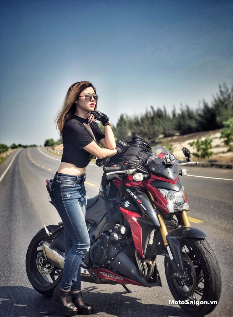 Nữ biker Thu Anh cưỡi Suzuki GSX-S1000 đi tour Hà Nội - Đà ...