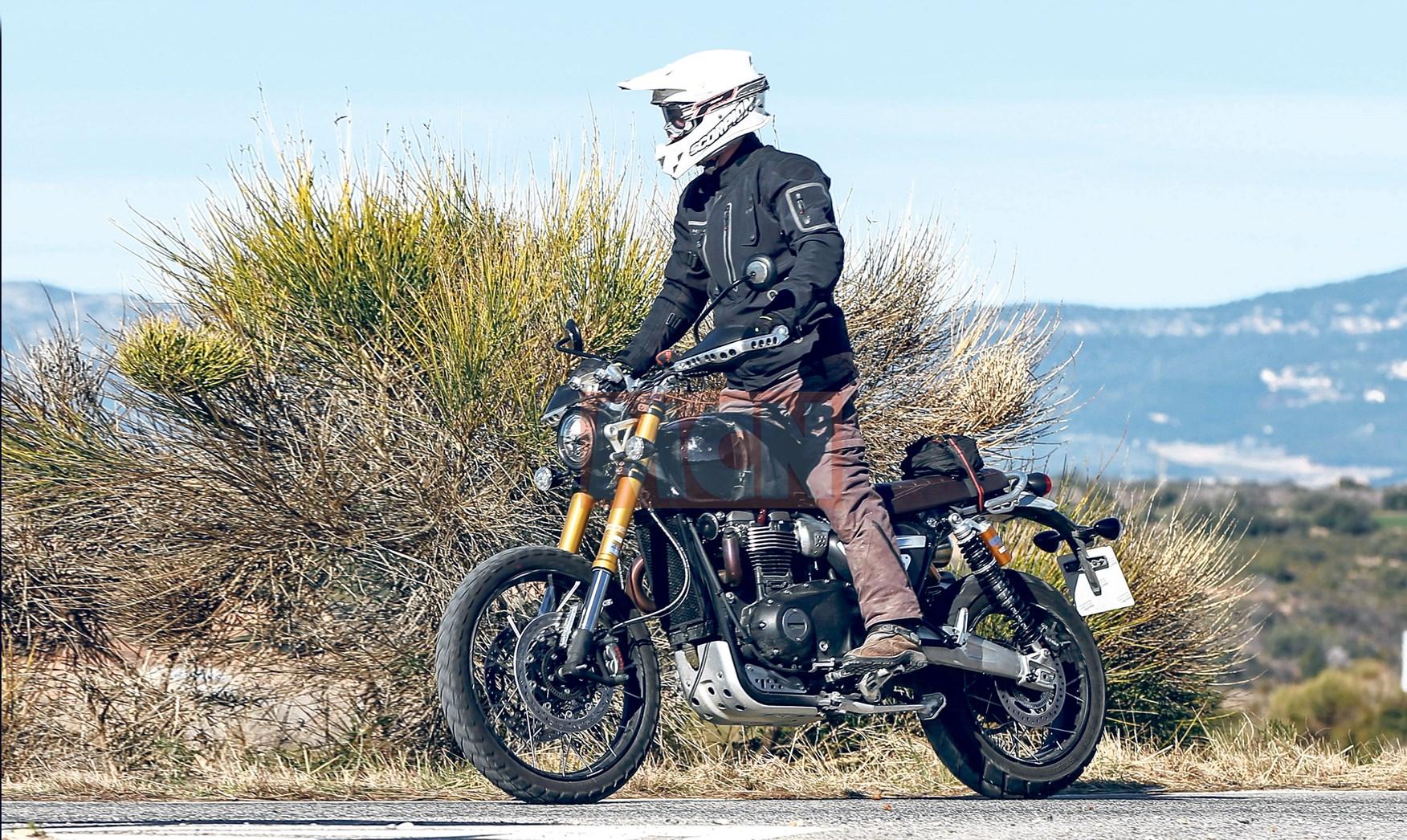 Lộ ảnh Triumph Scrambler mới 900cc 1200cc trên đường chạy thử - 3